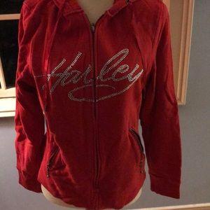 """Red """"bling"""" Harley Davidson sweatshirt"""